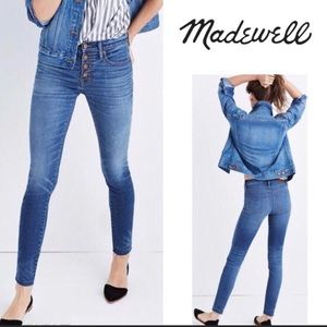 """Madewell 9"""" High Riser Skinny Skinny Button Jeans✨"""